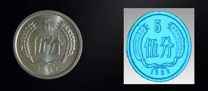 KSCAN复合式三维扫描仪蓝光细节硬币.jpg